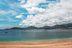 Sea. Beach at montenegro, mountains on horrizon Stock Photography