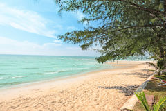Sea beach nature scene. Tropical beach holiday. Stock Photos