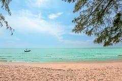 Sea beach nature scene. Tropical beach holiday. Stock Images