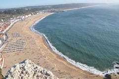 sea beach Nazare coast Portugal stock image