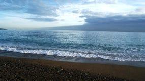 Sea and beach in Nice Stock Photo