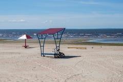 Sea beach nobody Stock Photos