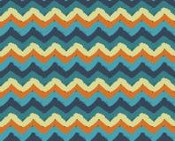 Sea Beach Painted Zigzag Pattern Stock Photography