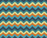 Sea Beach Painted Zigzag Pattern Stock Photography