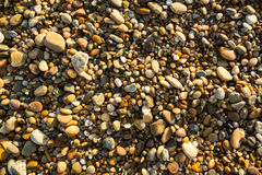 Sea beach pebble stones texture. Nature. Royalty Free Stock Photography