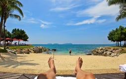 Sea & Beach Relaxation Stock Photo