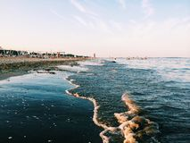 Sea . Beach. Relaxing place near Venice , Italy Stock Images