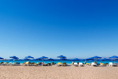 SEA BEACH IN RHODOS GREECE. A beautiful day in Rhodos on an amazing beach stock photography