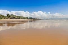Sea beach sand  sky cloud Stock Images