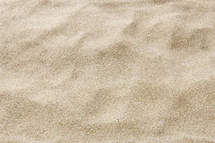 Sea beach sand for texture and background. Close up of desert sand Stock Photography