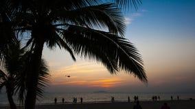 The sea and beach of Sanya Stock Photo