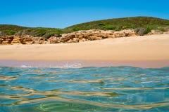 Sea and beach in Sardinia Stock Photo
