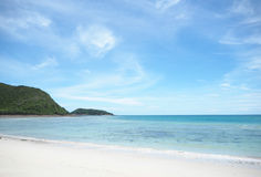 Sea and beach of Sattahip , Thailand Royalty Free Stock Image