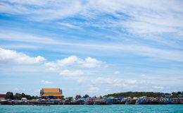 Sea and beach of Sattahip , Thailand Stock Images