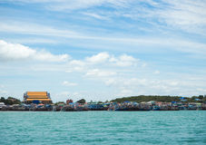 Sea and beach of Sattahip , Thailand Royalty Free Stock Images