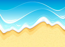 Sea beach. Seashore washed by the waters of the ocean royalty free illustration