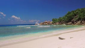 Sea Beach, Seychelles stock video