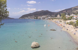 The sea beach. Small coastal town Tolo and its beach in the Peloponnese, Greece Stock Images