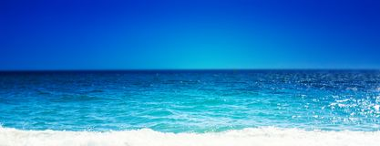 Sea Beach and Soft wave of blue ocean. Summer day and sandy bea. Ch background, beauty nature stock photos