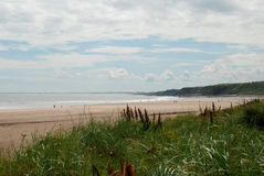 Sea and beach at Spittal by Berwick-upon-Tweed. Sea and beach at Spittal, Northumberland Royalty Free Stock Images