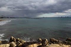 Sea Beach and stormy sea. Royalty Free Stock Photos