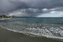 Sea Beach and stormy sea. Royalty Free Stock Photography