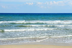 Sea and beach in a summer day in Ostuni, Apulia, Italy Stock Images