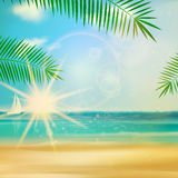 Sea beach for summer design. Royalty Free Stock Images