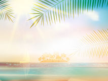 Sea beach for summer design template. Royalty Free Stock Photos