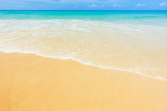 Sea and beach in the summer and sun daylight. Relaxation landscape Royalty Free Stock Photography