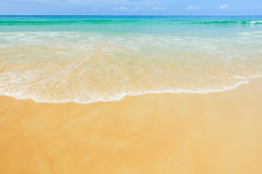 Sea and beach in the summer and sun daylight relaxation. Sea and beach in the summer and sun daylight relaxation landscape Stock Photo