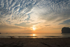 Sea beach sun set Stock Image
