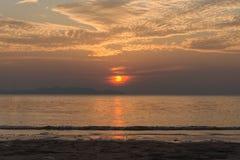 Sea beach sun set Royalty Free Stock Photo