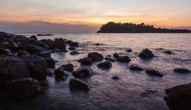 Sea beach at sunset Stock Image