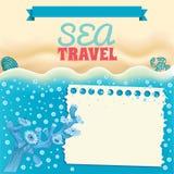 Sea beach template Royalty Free Stock Image