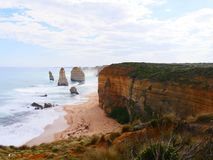 Great ocean road main point. Sea beach toch hill summon stock image