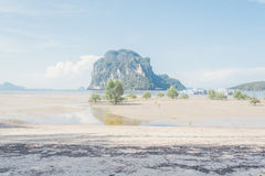 Sea Beach At Trang in Thailand. Beautiful Clear Beach in Trung at Thailand stock photos