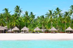 Sea beach at tropical. Resort Stock Image