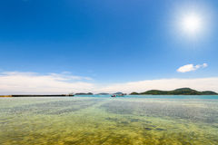 Sea and beach under the sun in the summer, Thailand Stock Photography