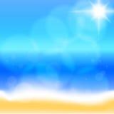 Sea beach. Vector Royalty Free Stock Photos