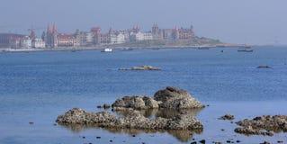 Sea beach and villa Stock Photography
