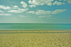 The Sea and the beach. Vintage style background with toning Stock Photo