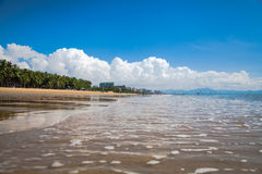 Sea beach  water landscape Hainan China Royalty Free Stock Images