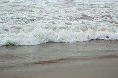 Sea beach water wave close up stock photos