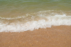 Sea and beach waves. Beach waves and sea at thailand Royalty Free Stock Photography