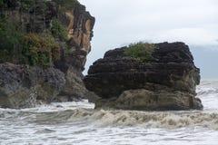 Sea beach. On the way to Bako National Park - Borneo , Sarawak Malaysia royalty free stock photo