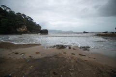Sea beach. On the way to Bako National Park - Borneo , Sarawak Malaysia royalty free stock photos