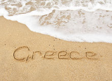 The sea, beaches and sand - calling card Greece Stock Photos