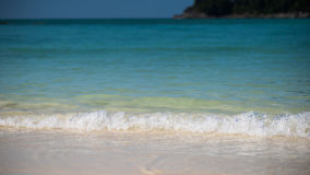 Sea and beauitaful gentle wave on sandy Stock Photo