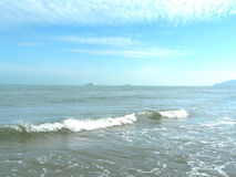 Sea and Beautiful blue sky at the beach Royalty Free Stock Photo